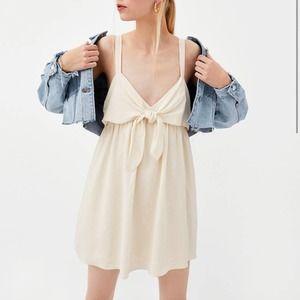 Zara Cream Sleeveless Romper Dress Playsuit Sz M